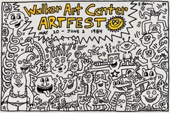 Keith Haring Walker Art Center Artfest poster 1984 (Keith Haring prints)