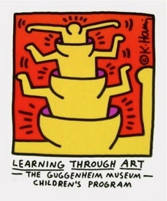 Learning Through Art, 1990 Guggenheim Museum Exhibition Lithograph