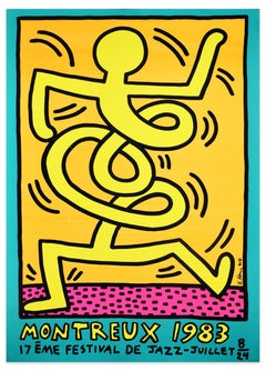 Montreux Jazz Festival 1983 - Keith Haring - Screen Print - Contemporary