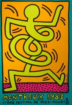 Montreux Jazz Festival 1983 - Keith Haring - Serigraph - Contemporary