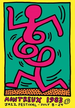 Montreux Jazz Festival (yellow), Keith Haring