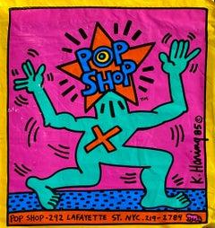 Original Keith Haring Pop Shop bag (Keith Haring pop shop New York)