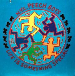 Rare Original Keith Haring Album Cover Art (Keith Haring Larry Levan)