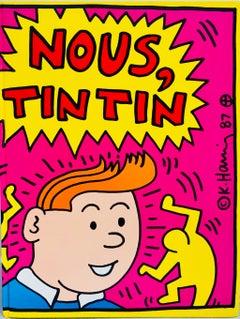 Rare original Keith Haring cover art (Keith Haring Nous Tintin)