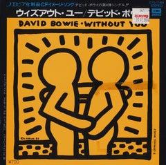 Rare original Keith Haring Record Art (Keith Haring David Bowie)