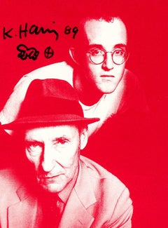 Signed Keith Haring Apocalypse announcement (Keith Haring William Burroughs)