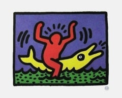 Untitled (Pop Shop Dolphin), 1992 Lithograph, Keith Haring