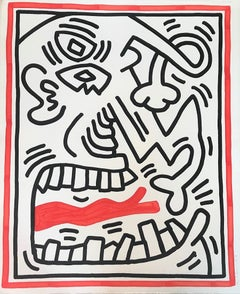Untitled (Red Tongue), Keith Haring