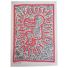 Keith Haring Radiant Baby Mixed-Media, 1982
