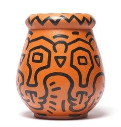 Keith Haring 'Untitled' Vase 1989