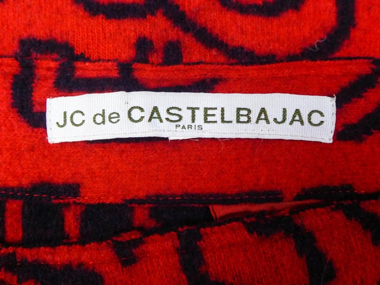 Red Keith Haring Skirt by Jean-Charles de Castelbajac Circa 1990/2000 For Sale