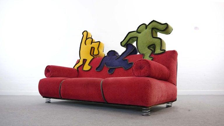Post-Modern Keith Haring Sofa by Bretz 2002 Pop Art