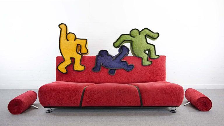 Keith Haring Sofa by Bretz 2002 Pop Art In Good Condition In Halle, DE