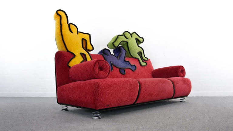 Contemporary Keith Haring Sofa by Bretz 2002 Pop Art
