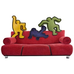 Keith Haring Sofa by Bretz 2002 Pop Art