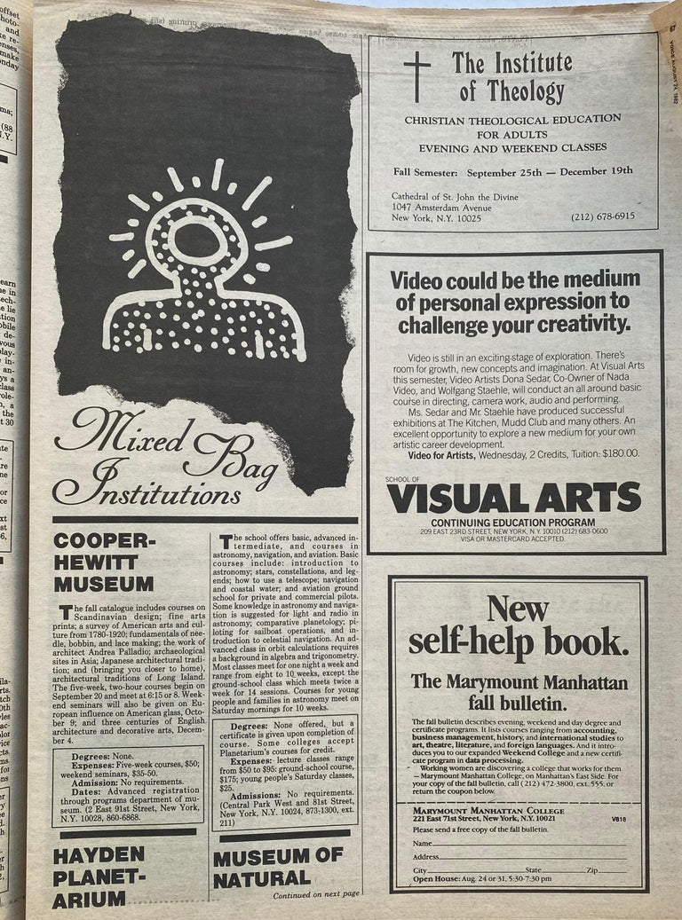 Late 20th Century Keith Haring The Village Voice, 1982 For Sale
