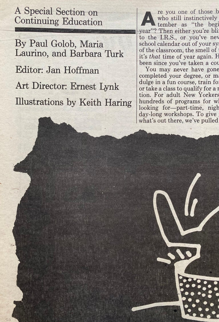 Keith Haring The Village Voice, 1982 For Sale 2