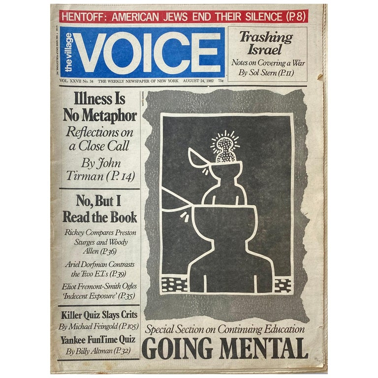 Keith Haring The Village Voice, 1982 For Sale