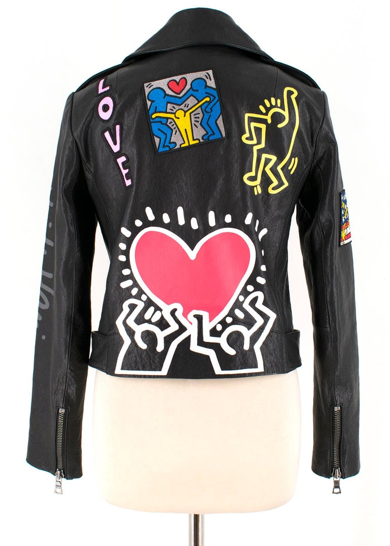 4d0ba1261 Keith Haring x Alice + Olivia Cody leather jacket - Current Season US 4