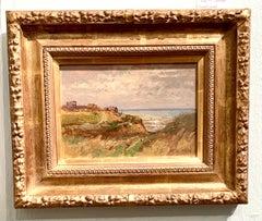 English Impressionist landscape, by a beach, seaside, Norfolk , England.
