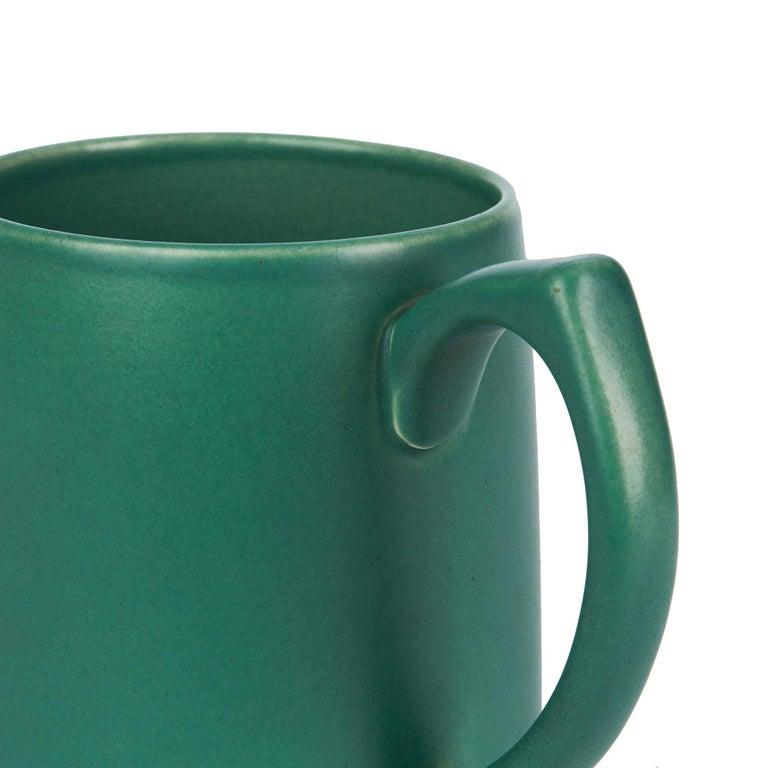 Keith Murray for Wedgwood Iconic Green Art Deco Mug, circa 1935 3