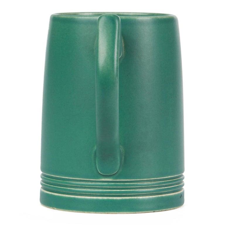 Keith Murray for Wedgwood Iconic Green Art Deco Mug, circa 1935 4