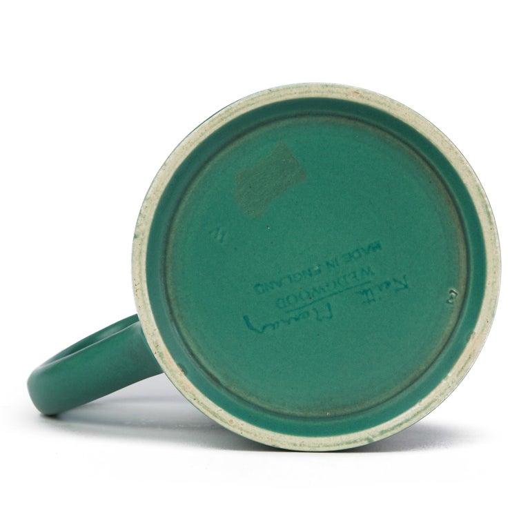 Pottery Keith Murray for Wedgwood Iconic Green Art Deco Mug, circa 1935