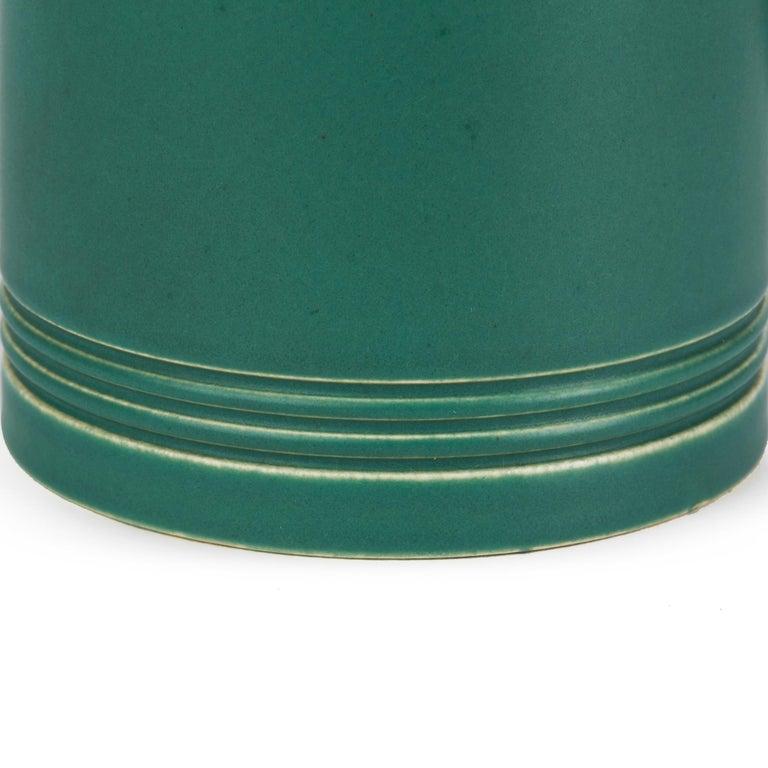Keith Murray for Wedgwood Iconic Green Art Deco Mug, circa 1935 2