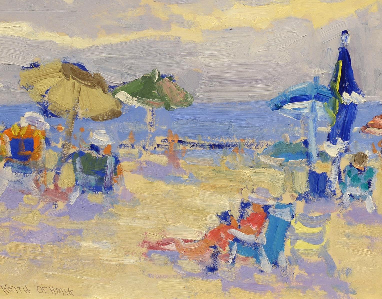 """""""At the Beach,"""" Keith Oehmig, oil landscape, impressionist, contemporary art"""