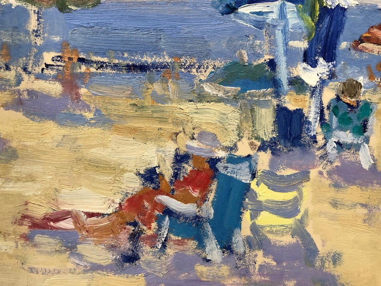Beach Morning - Impressionist Painting by Keith Oehmig