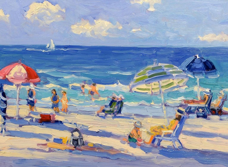 Day at the Beach - Painting by Keith Oehmig