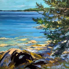 """Eggemoggin Reach,"" Keith Oehmig, oil, coastal, seascape, impressionist"