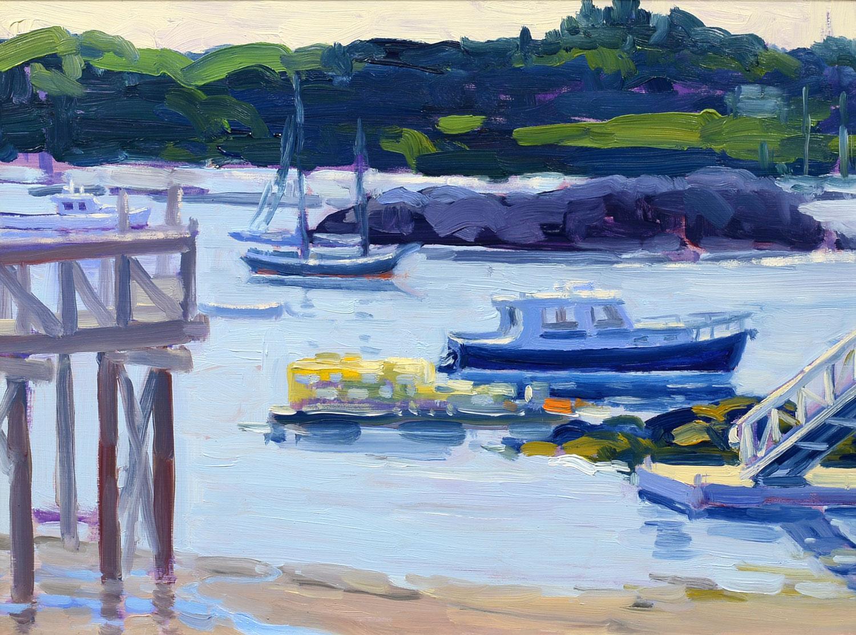 Southwest Harbor, Keith Oehmig, Impressionist, oil, Mt Desert Island, Maine