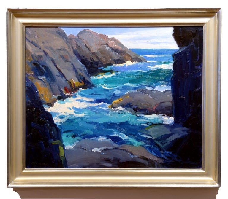 Squeaker Cove, Monhegan II - Painting by Keith Oehmig