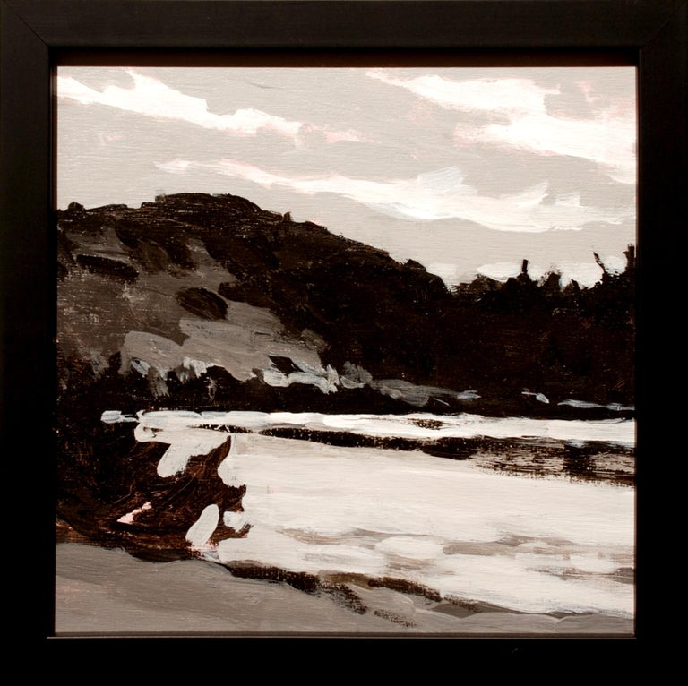 Upper Pond, Pierce Pond - Painting by Keith Oehmig