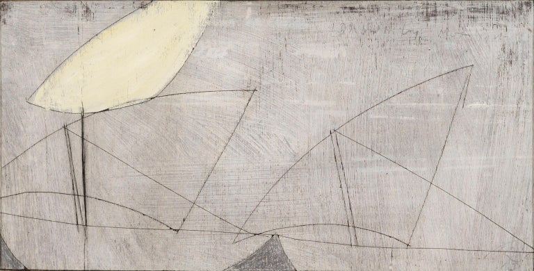Keith Purser, Dhow by Moonlight, 2013, abstract painting - Contemporary Painting by Keith Purser