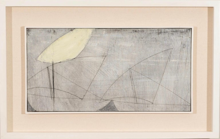 Keith Purser, Dhow by Moonlight, 2013, abstract painting - Painting by Keith Purser