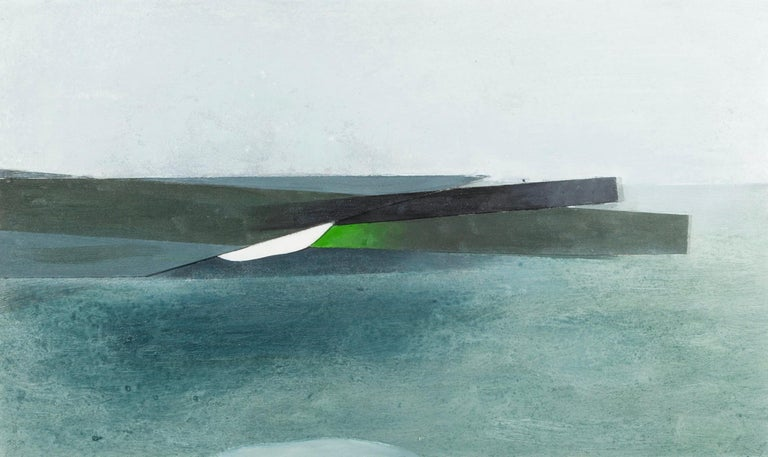 Keith Purser, Sea Study, 2007, abstract landscape painting blue green - Contemporary Painting by Keith Purser