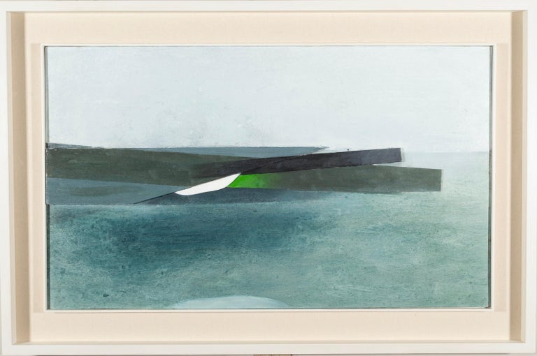 Keith Purser, Sea Study, 2007, abstract landscape painting blue green - Painting by Keith Purser