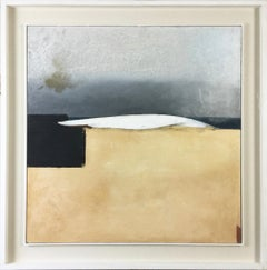 Keith Purser, Wave II, oil painting. Landscape, Found objects, Sand