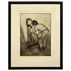 """""""Keith Richards in the Mirror"""" by Ronnie Woods the Rolling Stones"""