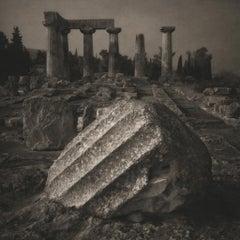 Keith Taylor, Fallen Column, Temple of Apollo, 2011, platinum palladium print