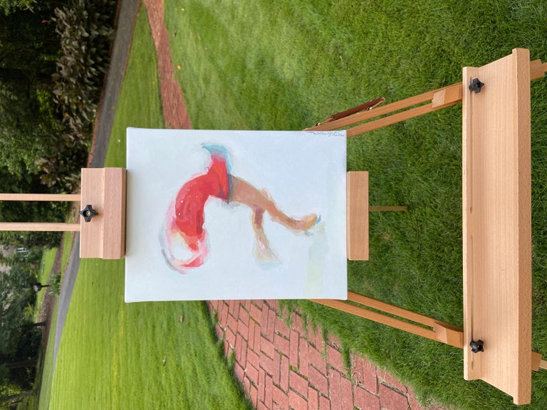 <p>Artist Comments<br>An impressionist rendering of a figure skater in mid-twirl. Artist Keith Thomson creates this piece with a hypothesis about impressionist work in mind,