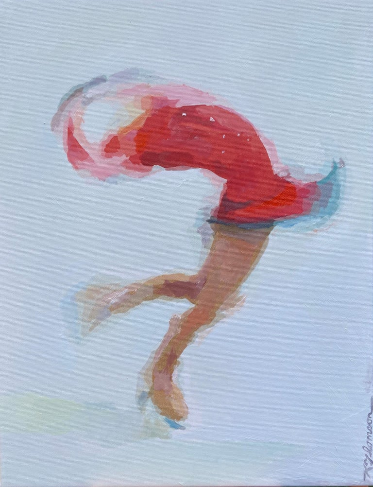 Figurative Skater, Original Painting - Mixed Media Art by Keith Thomson
