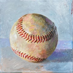 Portrait of a Baseball, Original Painting