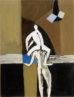 Acrobats - 20th Century, Gouache Painting by Keith Vaughan