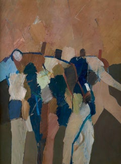 Archers from the Martyrdom of St Sebastian - 20th Century, Oil by Keith Vaughan