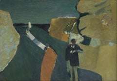 Road to the Sea (Foreshore) - 20th Century, Oil on board by Keith Vaughan