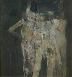 Street Group - 20th Century, Oil on board by Keith Vaughan