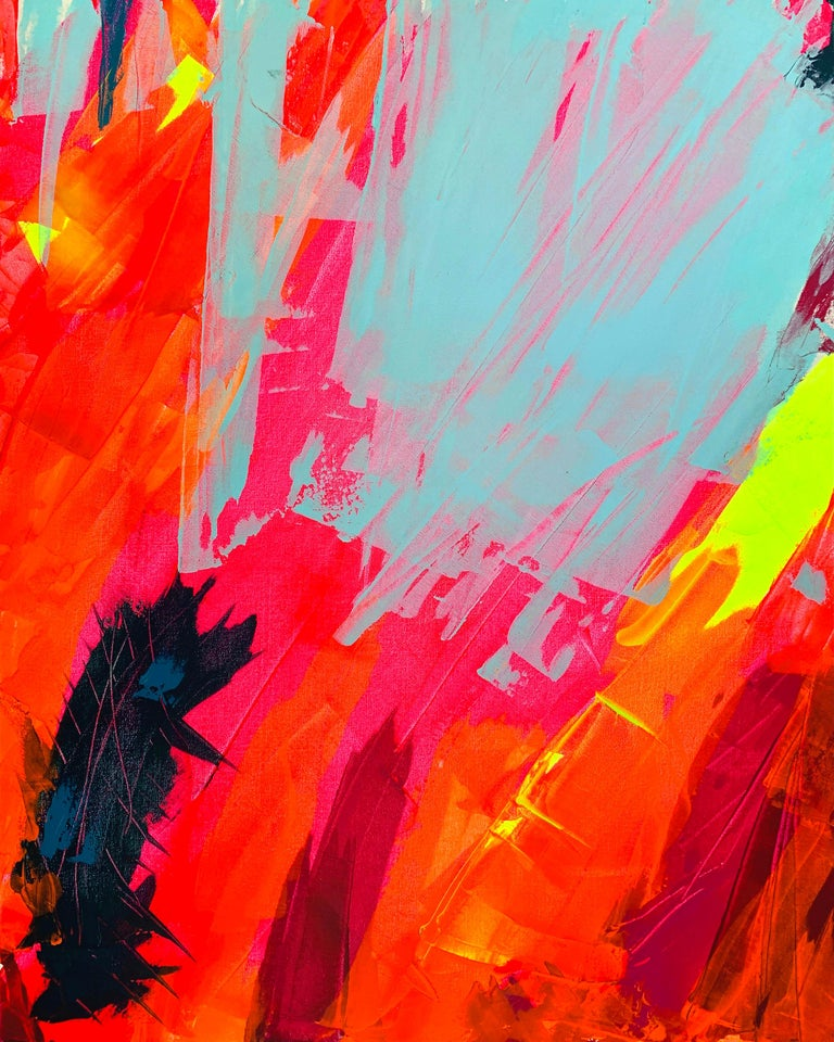 Kelda Storm  Abstract Painting - Untitled Colour Study No. 2, Acrylic on canvas, 100 x 80 cm, 2020